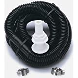 SeaSense BilgePump Plumbing Kit 1.125inx6ft w Ftng SS Clamps , Black