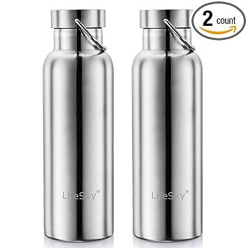 Amazon.com: LifeSky Botella de agua de acero inoxidable ...