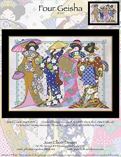 Cross Stitch Chart Four Geisha JE247