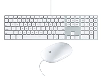57ac2269694 APPLE A1243 WIRED ENGLISH U.S KEYBOARD AND APPLE MIGHTY MOUSE SET  (Refurbished)