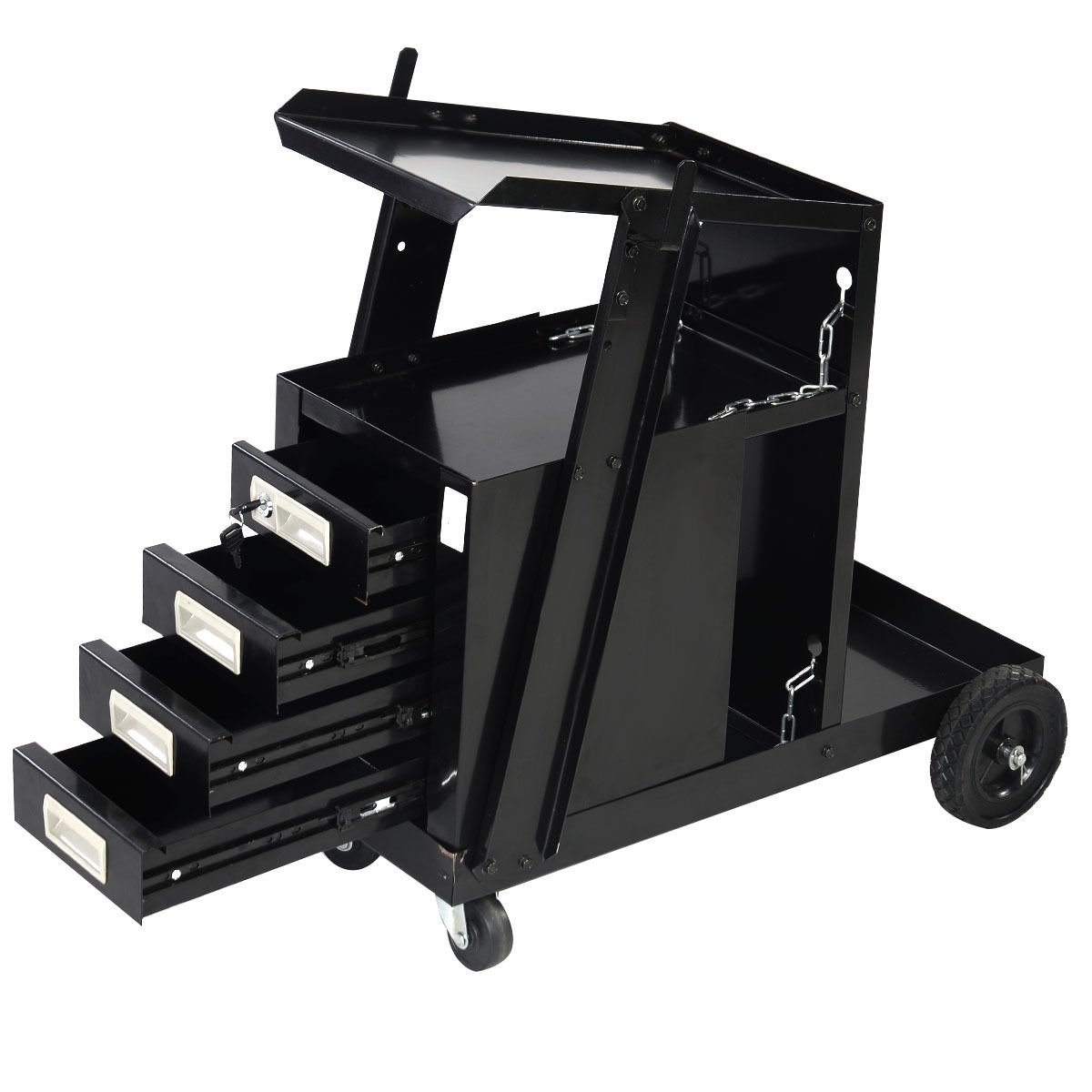Goplus® Welding Welder Cart MIG TIG ARC Plasma Cutter Tank Storage