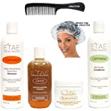 Natural Hair Kit including eHairClub Hair Tools and Etae Carmel Natural Products