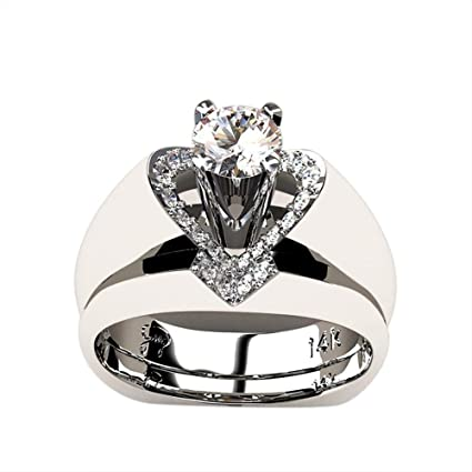 Amazon Com Challyhope Fashion Creative Valentine Gift Ring Skull