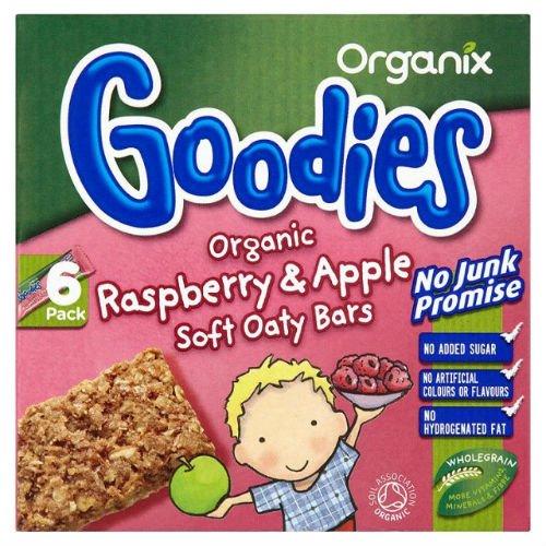 Organix Goodies Organic Raspberry & Apple Cereal Bars 6 x 30g