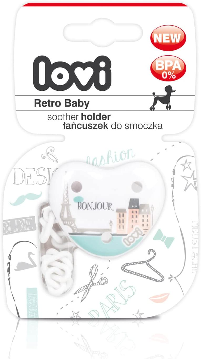 Prevents The Soother from Getting Lost 0m+ Safe Round Shape LOVI Pacifier Clip Dummy Holder Follow The Rabbit Collection