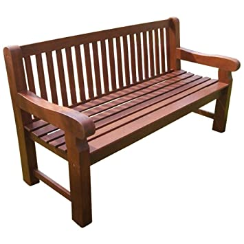 Gartenbank 3-Sitzer 162x69x90cm Holz extra stabil Eukalyptus FSC ...