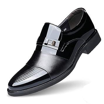 Zapatos De Cuero Los Hombres Mocasines Para Elegante Vestido Formal Fiesta Boda Calzado Casual Tacón Bajo