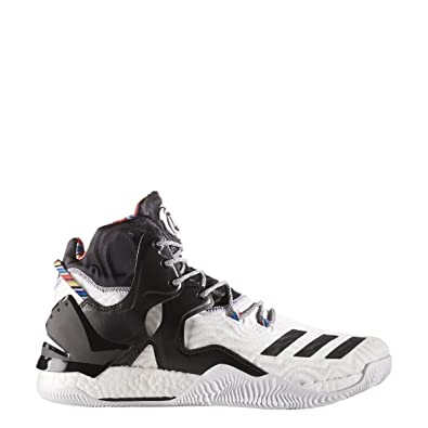 sports shoes b01d3 a7011 adidas D Rose 7 Shoe - Mens Basketball 16 Running WhiteBlackMetallic Gold