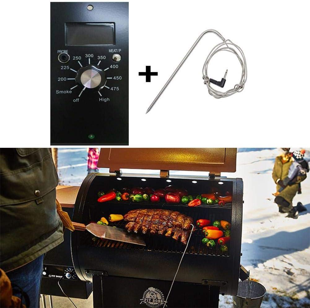 Cherishly - Termómetro para barbacoa con sonda para termómetro, sonda para carne de acero inoxidable, sonda de carne de acero resistente a altas temperaturas para ahumar, parrilla, convenient