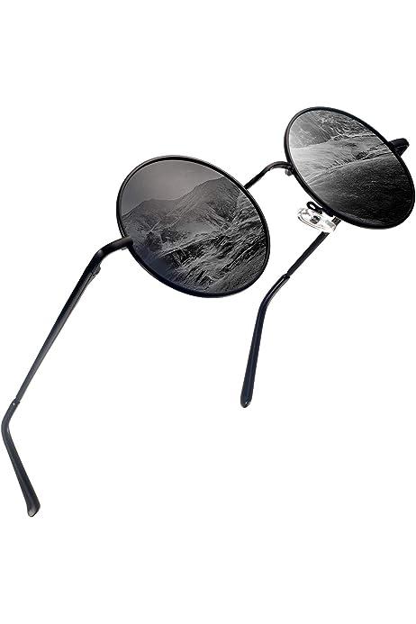 Amazon.com: Round Steampunk Sunglasses Polarized for Women ...