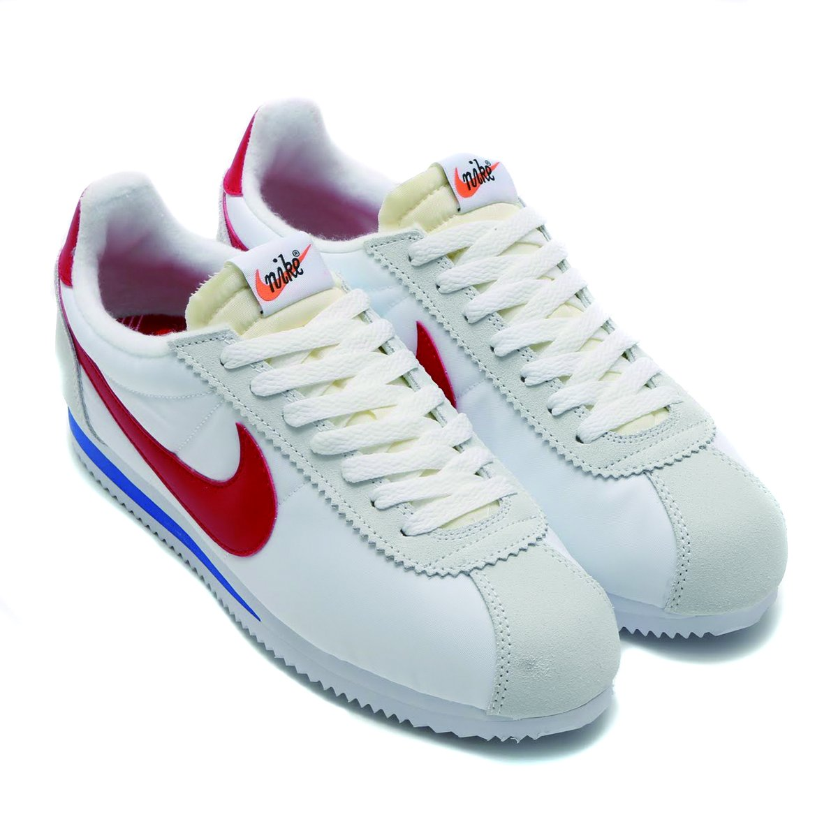 Nike Men Classic Cortez Nylon AW QS (white/varsity red-varsity royal) with Bag - Size 11.5 M US