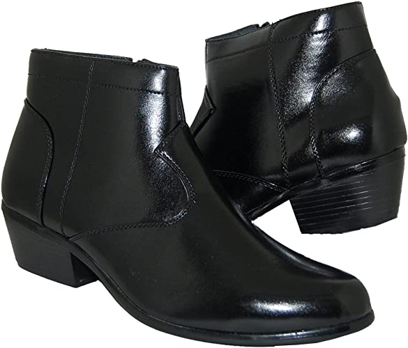 Art of Shoes and Beyond Retro Style 2 Inch Cuban Heel Men Boots