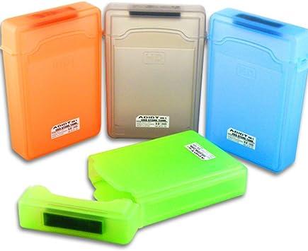 ELEGIANT 3.5 portátil IDE SATA HDD Caja Externa Drive Etui Case Disco Duro protección plástico 2 pcs: Amazon.es: Informática