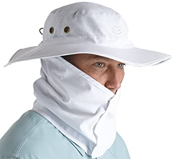 Coolibar Men s UV Protective 50 Plus Shapeable Boating Hat - White ... 6c27596f7840