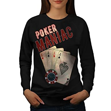 Amazoncom Wellcoda Poker Game Maniac Womens Sweatshirt Las Vegas