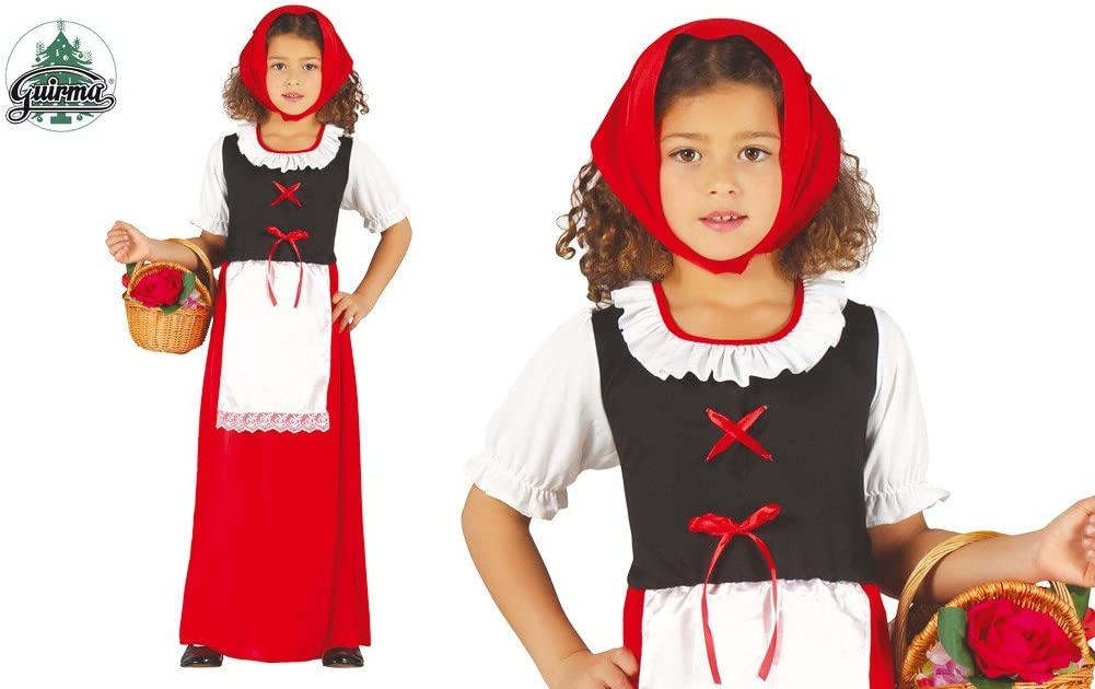 Disfraz de pastorcita roja infantil 3-4 años: Amazon.es: Juguetes ...