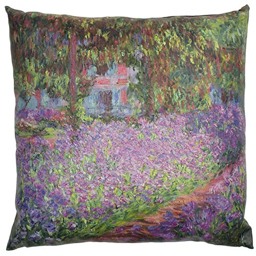 "Oriental Furniture ""Monet Irises"" Pillow"