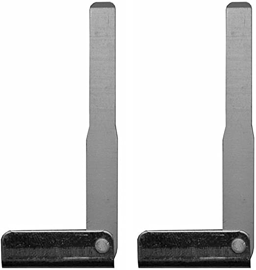 qualitykeylessplus Two Uncut Remote Prox Smart Key Blade Blank Replacement Emergency Inserts for Kia with Free KEYTAG