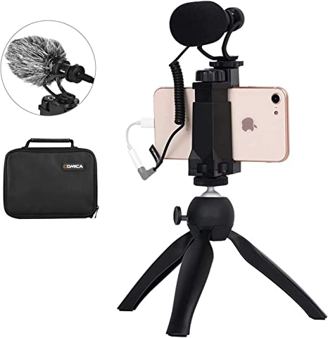 Comica CVM-Vm10-K2 - Mini trípode para Smartphone con micrófono de vídeo para iPhone y Android: Amazon.es: Electrónica