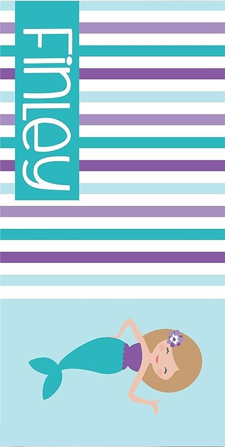Amazon.com: Toalla de playa y bolsa de sirena personalizada ...