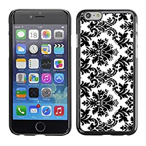 YiPhone /// Prima de resorte delgada de la cubierta del caso de Shell Armor - Black White Stylish Classy - Apple iPhone 6 Plus 5.5