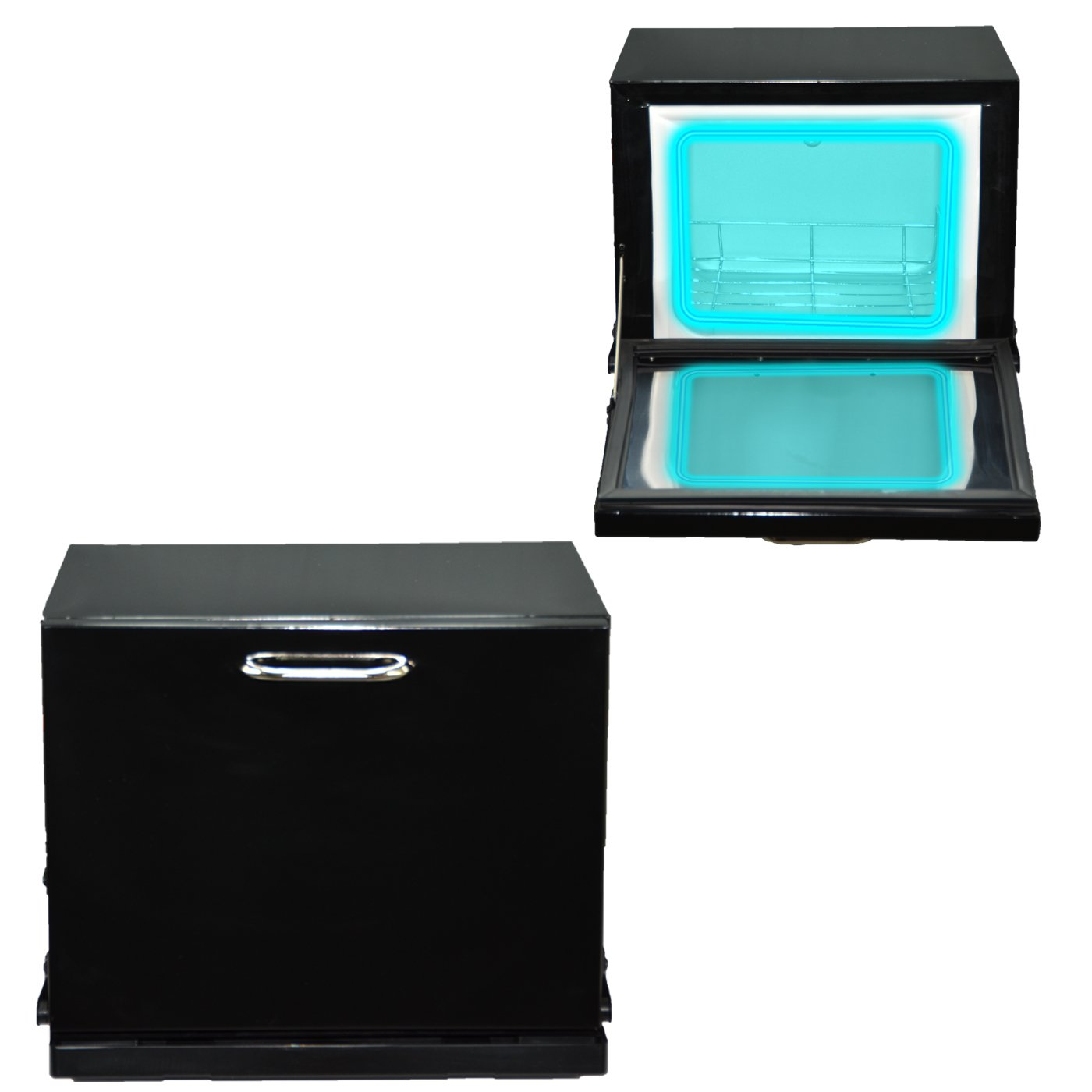 LCL Beauty Black Compact 2-in-1 Towel Warmer & Ultraviolet Sterilizer Cabinet (w/o Towels)