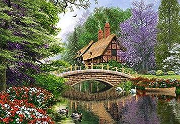 Englisches Cottage puzzle 1000 teile englisches cottage castorland garten
