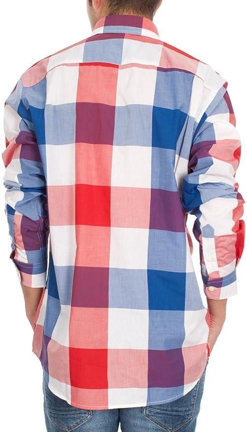 El Ganso 1050s160029 Camisa, Azul Marino/Rojo, 38 para Hombre ...