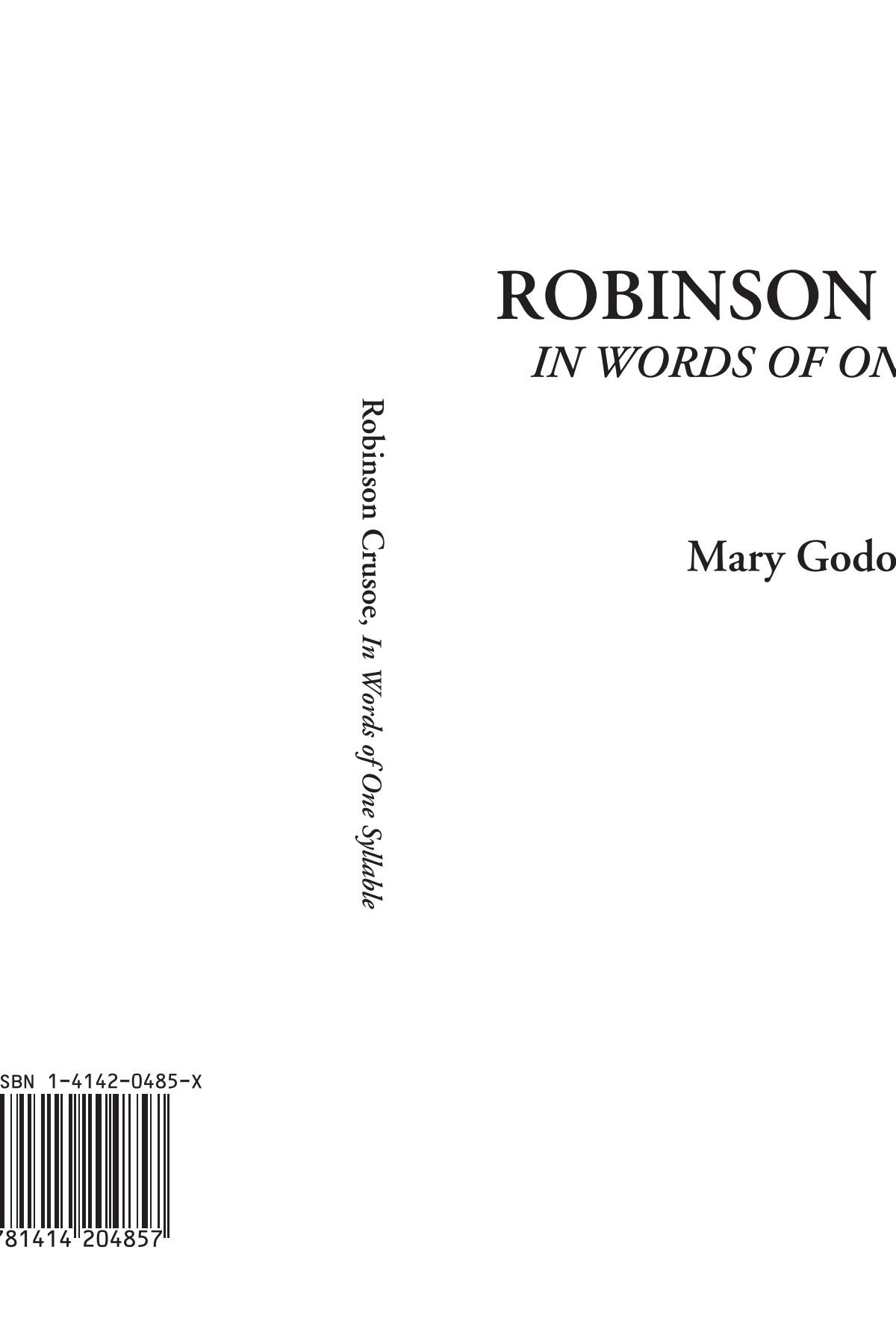 Read Online Robinson Crusoe (In Words of One Syllable) PDF