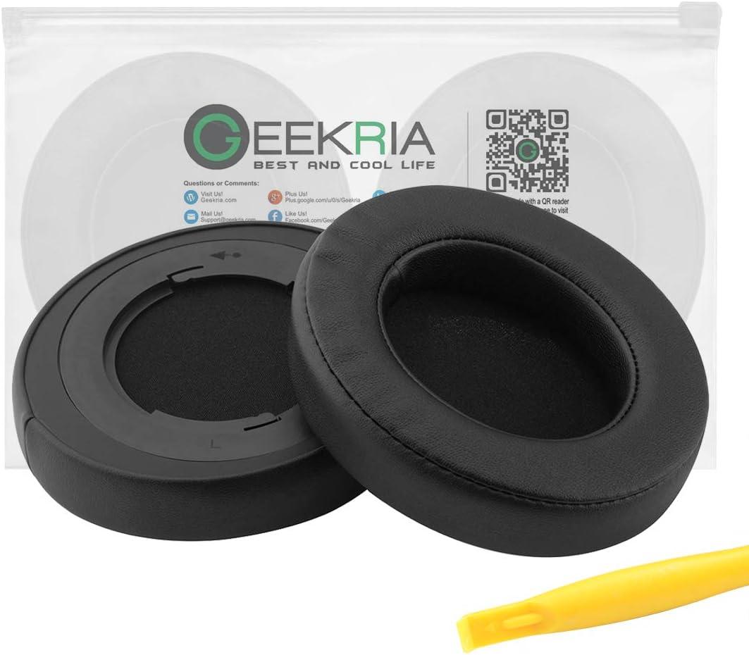 Geekria Earpad Replacement for Razer Kraken Pro V2 Headphone Ear Pad/Ear Cushion/Ear Cups/Ear Cover/Earpads Repair Parts (Black/Plastic Ring)
