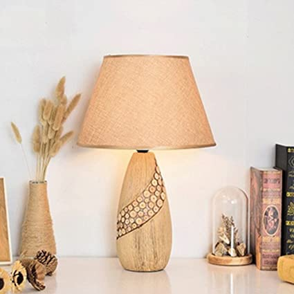SOPHILAB Japanese Ceramic Vase Base Table Stand Lights Modern Cloth Lamp  Shade Edison Desk Accent Lamps