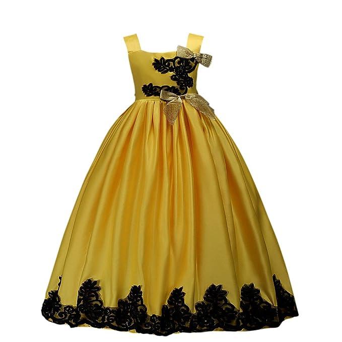 VLUNT Vestido con Elegante Bordado de sin Mangas para Niña - 5 colores, 3-
