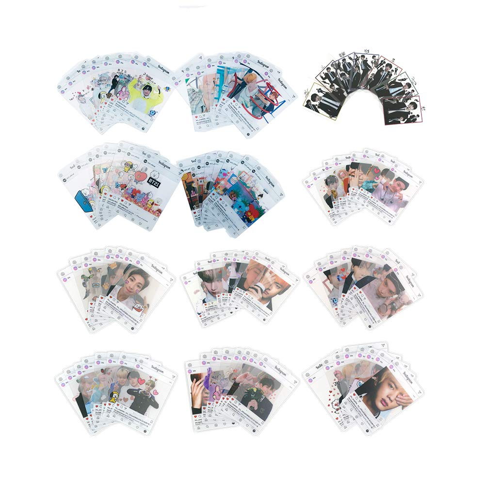 BTS BANTAN BOYS Transparent Photo Cards Ins Photocards, Gifts for ARMY Daughter (BTS 95pcs) by KPOP (Image #1)