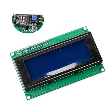MUZOCT IIC / I2C / TWI Serial 2004 20x4 Módulo LCD Shield para Arduino UNO Mega R3: Amazon.es: Electrónica