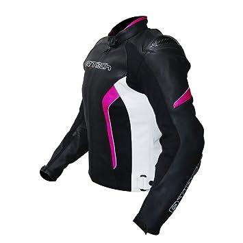 R-TECH Chaqueta de cuero para mujer Tom Rider chaqueta de moto para mujer (34): Amazon.es: Coche y moto