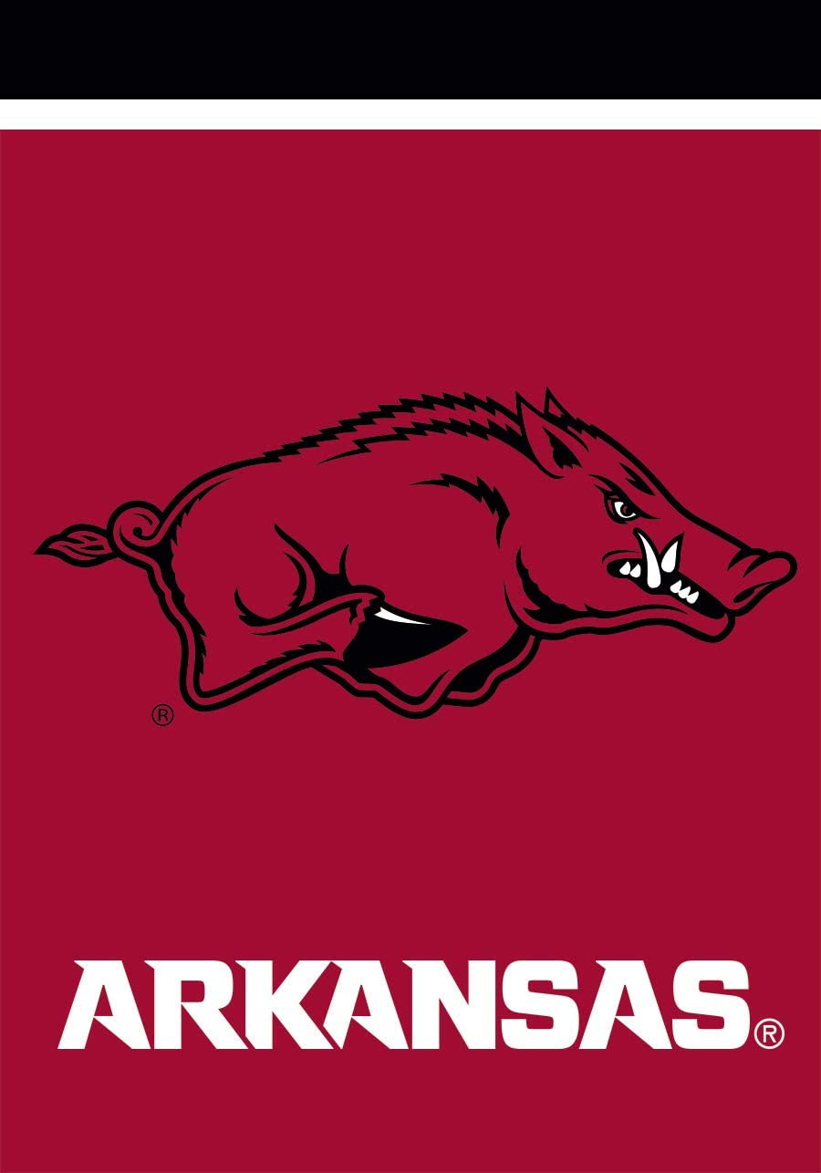 "Arkansas Razorbacks House Flag NCAA Licensed 28/"" x 40/"" Briarwood Lane"