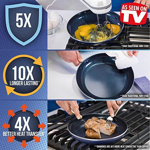 Blue Diamond CC001598-001 Toxin Free Ceramic Nonstick Metal Utensil Open Frypan, 12'' by Blue Diamond (Image #2)