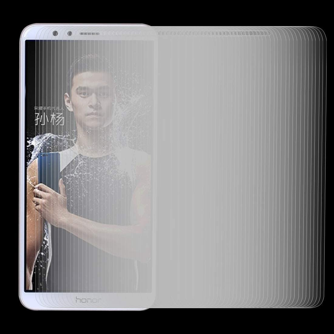 JIN Screen Protector 100 PCS for Huawei Honor Play 7X 0.26mm 9H Surface Hardness 2.5D Explosion-Proof Tempered Glass Screen Film