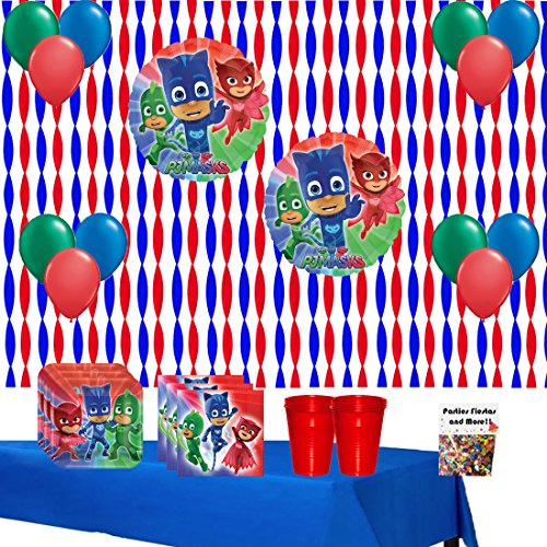 PJ Masks Birthday Party Supplies Bundle (Mask Confetti)