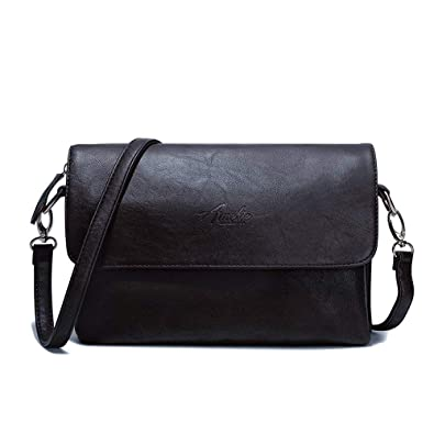 0a7eff8808f Amazon.com: Crossbody Bags for Women, Purses and Handbags PU Leather Flap Shoulder  Bag Satchel with 2 Adjustable Strap and Multi Pockets (Black): Shoes
