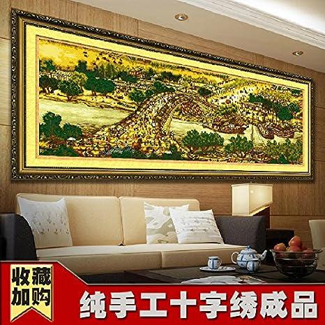 AIGUFENG Bordado a mano puro acabado Qingming Shanghe Figura completo 3m 6m 22m bordado panorámico,insatisfacción bordado 20: Amazon.es: Hogar