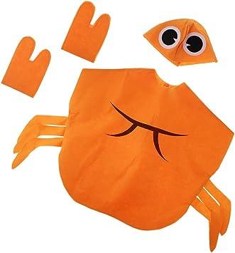 Traje de Cangrejo Naranja Animal No Tejido Animales Equipo Disfraz ...