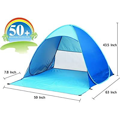 Portable Beach Tent, TISSA Automatic Pop Up Instant Beach Tent