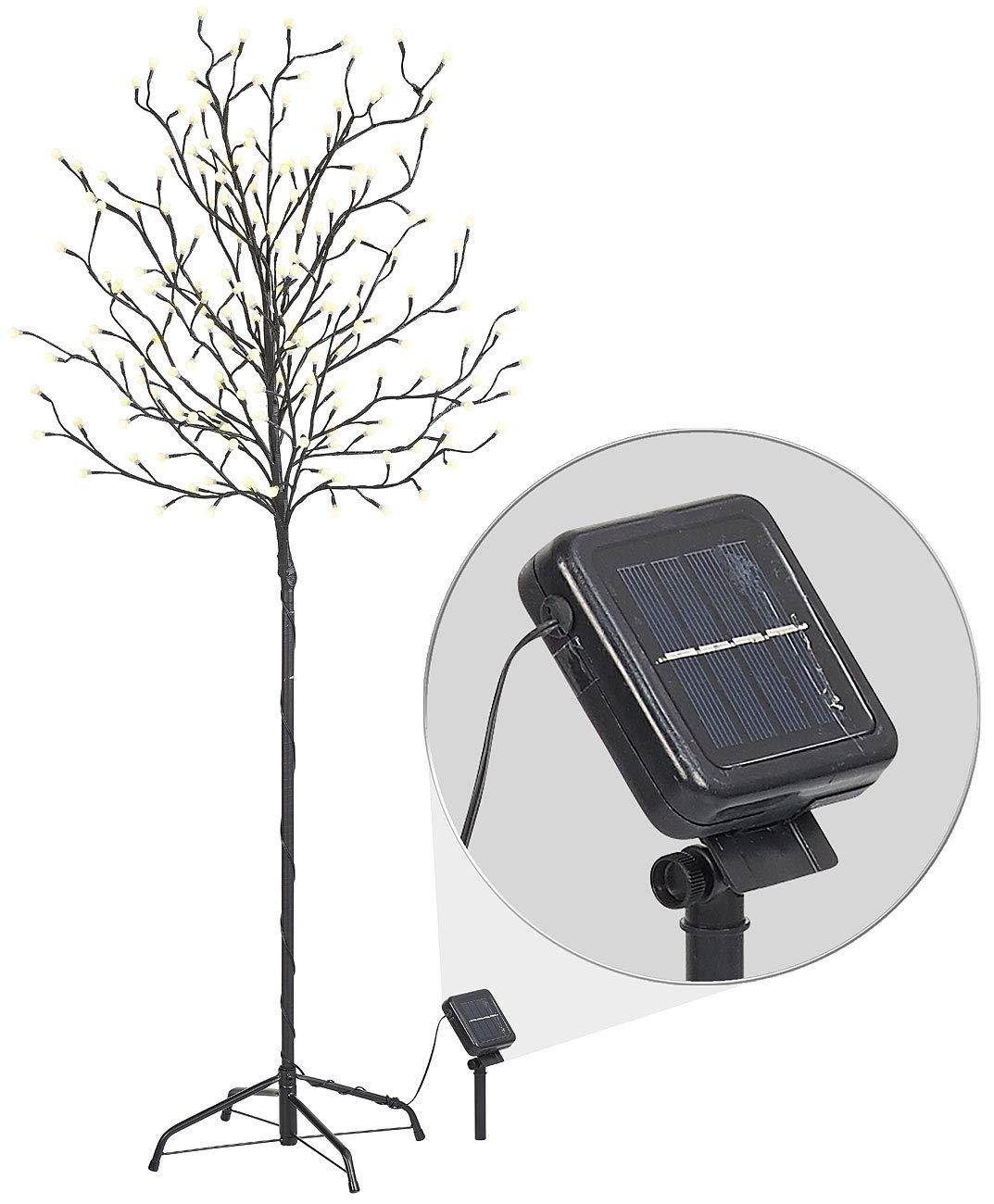 Lunartec Solarbaum: XL-Solar-LED-Lichterbaum mit 200 Beleuchteten Knospen, 150cm, IP44 (Deko Baum)