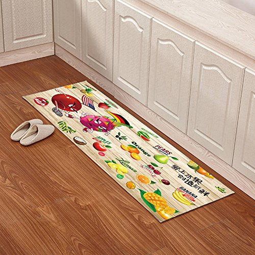 Indoor mats Kitchen floor mats Bathroom non-slip mats Toilet bathroom mats-B 140x200cm(55x79inch) by angertuh