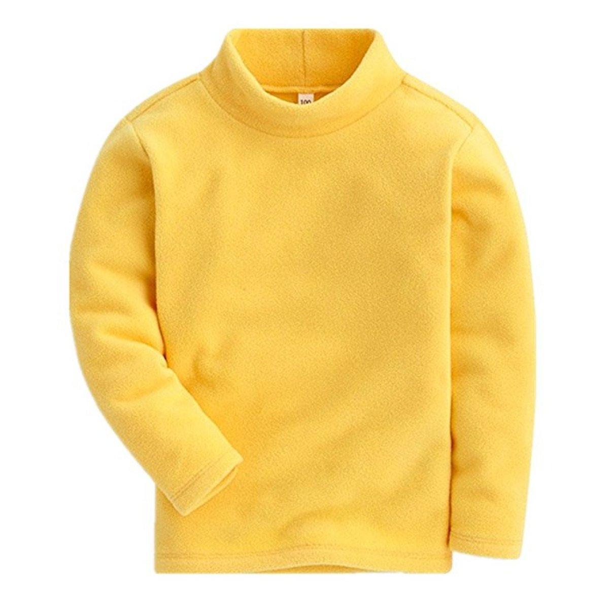 Kids Toddler Little Girls Long Sleeve Soild Color Slim Warmth Tops T-shirt Blouse 3T
