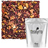 Tealyra - Orange Vanilla Clove - Hibiscus - Almond bits - Cardamom - Fruity Herbal Loose Leaf Tea - Caffeine-Free - Hot or Iced - 112g (4-ounce)