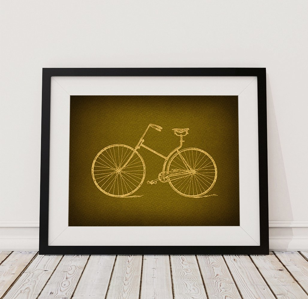 Amazon.com: Classic Antique Bike Print Vintage Bicycle Wall Art for ...
