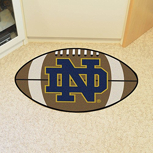 (FANMATS NCAA Notre Dame Fighting Irish Nylon Face Football Rug )