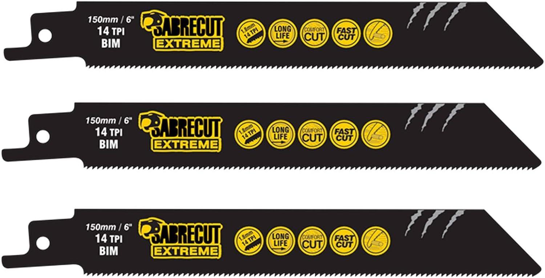 Hoja de sierra de sable de hormig/ón aireado para Bosch Dewalt Makita y muchos otros 1 x SabreCut SCRS940HM 152mm 6 TPI S940HM